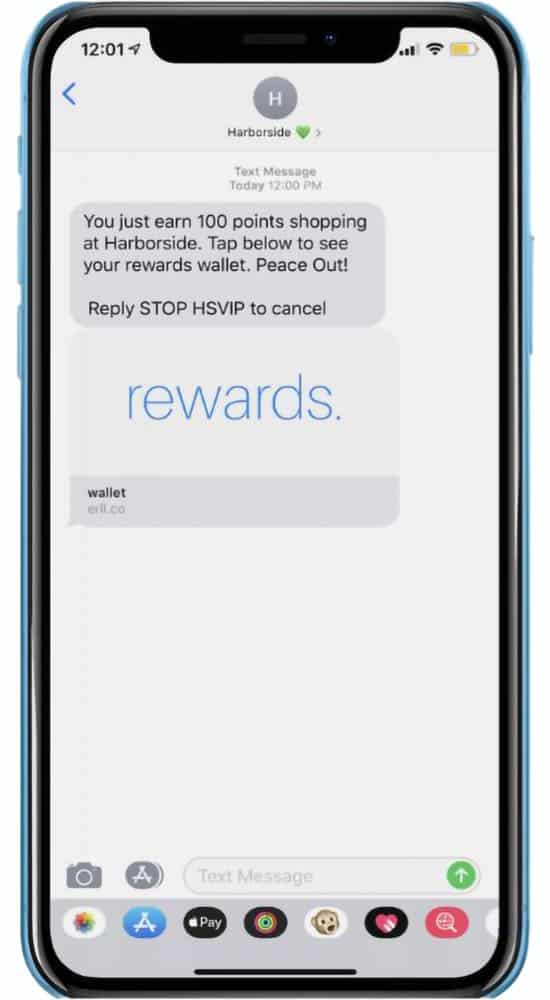 Mobile Phone with SMS from Harborside Rewards