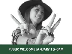 Public Welcome January 1 @ 6am